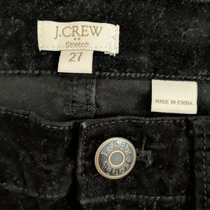 J. Crew Pants - J Crew Black Velvet Pants